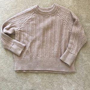 Women's beige H&M sweater, lightly worn